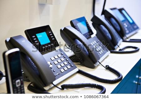 オフィス ip 電話 セット 液晶 表示 ストックフォト © vtls