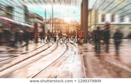 Bulanıklık kalabalık insanlar vatandaşlık bulanık sokak Stok fotoğraf © stevanovicigor