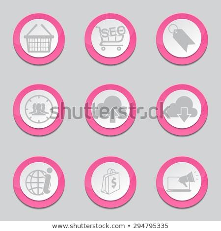 Seo Internet signo rosa vector botón Foto stock © rizwanali3d