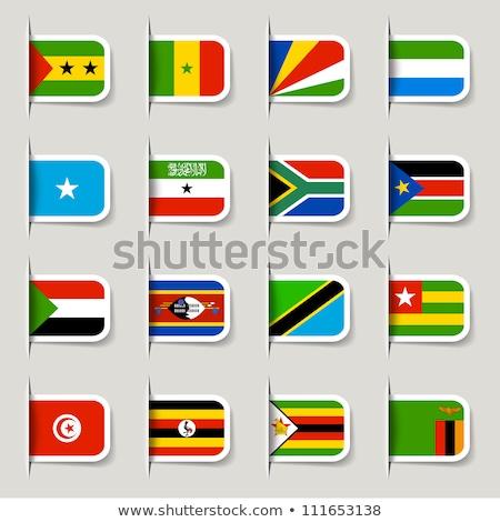 Zászló címke Szudán izolált fehér világ Stock fotó © MikhailMishchenko