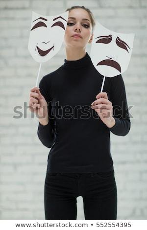 Сток-фото: женщину · карнавальных · маске · улыбаясь · красивой · счастливым