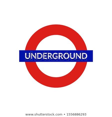 Londyn podziemnych podpisania niebo metra transportu Zdjęcia stock © AndreyKr