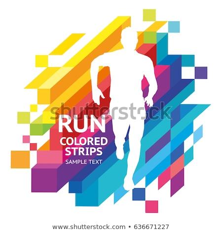 Abstract mensen kleurrijk geïsoleerd logos business Stockfoto © shawlinmohd