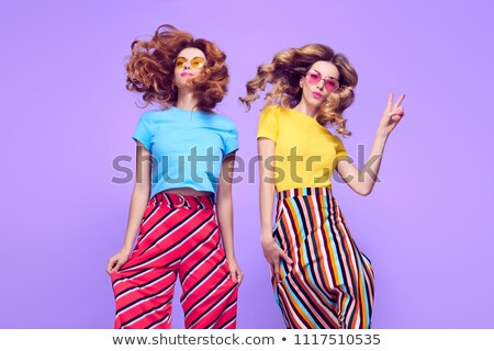 Fashion model posing with cool outfit Stock photo © stokkete