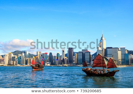 hong kong famous sailboat stock photo © joyr