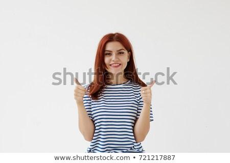 かなり 船乗り ジェスチャー 魅力のある女性 衣装 ストックフォト © Aikon