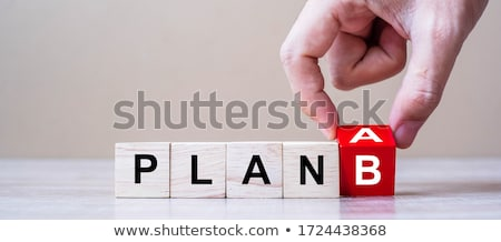 B-terv szó rózsaszín ceruza üzlet papír Stock fotó © fuzzbones0