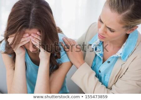 Aggódó nő terapeuta iroda üzlet terv Stock fotó © wavebreak_media