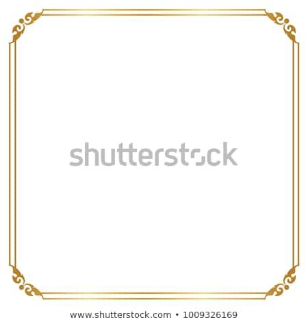 Złoty struktura dekoracyjny ramki obrazu tekstury ściany Zdjęcia stock © frescomovie
