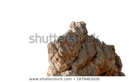 Charbon isolé blanche belle pièce texture Photo stock © artfotoss