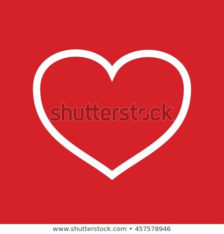 Label тег красный сердце изолированный белый Сток-фото © tetkoren
