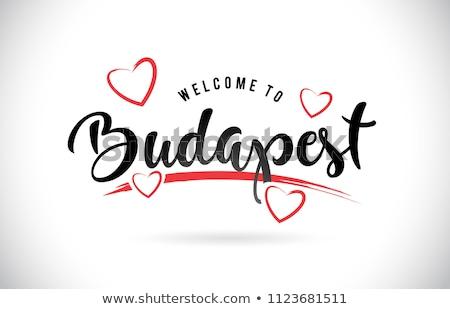 Budapest texte ville Hongrie à l'intérieur Photo stock © tony4urban