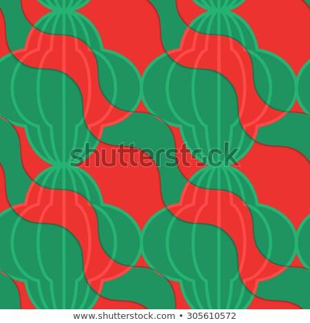 Retro 3D pomodoro diagonale ondulato strisce Foto d'archivio © Zebra-Finch