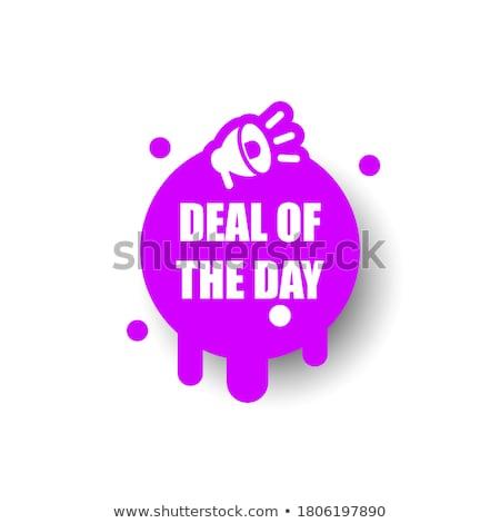 Top Deals Purple Vector Icon Button Stock photo © rizwanali3d