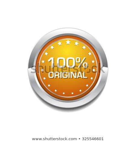 100 cento originale giallo vettore icona Foto d'archivio © rizwanali3d