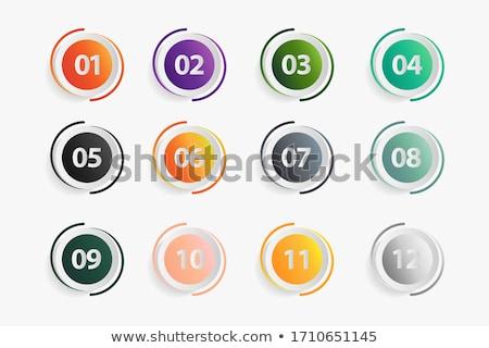 numara · sarı · vektör · ikon · düğme · dizayn - stok fotoğraf © rizwanali3d
