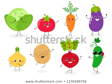 Cute vegetables Stock photo © sahua