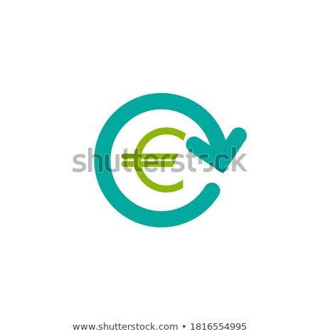 Euro Currency Sign Circular Vector Blue Web Icon Button Stock photo © rizwanali3d