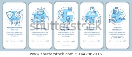 Egészség készlet kék vektor ikon terv digitális Stock fotó © rizwanali3d