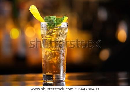 Koktél hosszú sziget ice tea vodka gin Stock fotó © netkov1