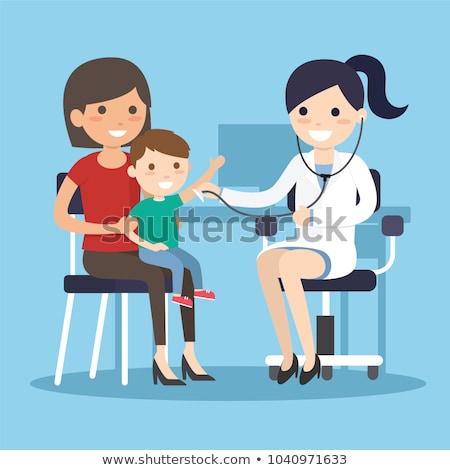 Сток-фото: женщину · врач · детей · изолированный · белый · любви