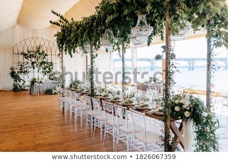 kristal · boeket · Rood · bruiloft · achtergrond · schoonheid - stockfoto © esatphotography
