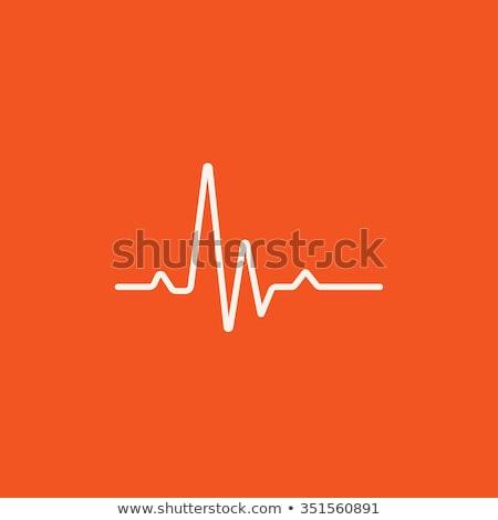 ütem kardiogram vonal ikon háló mobil Stock fotó © RAStudio