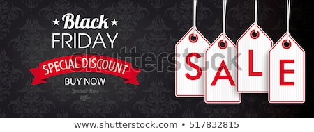 Black friday verkoop eps 10 boeg plaats Stockfoto © beholdereye