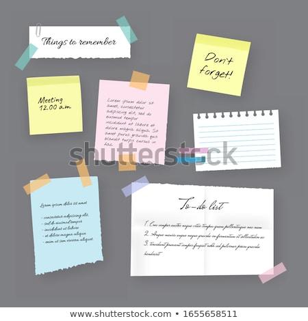 vektor · papír · jegyzet · post · it · levél · óriásplakát - stock fotó © beholdereye