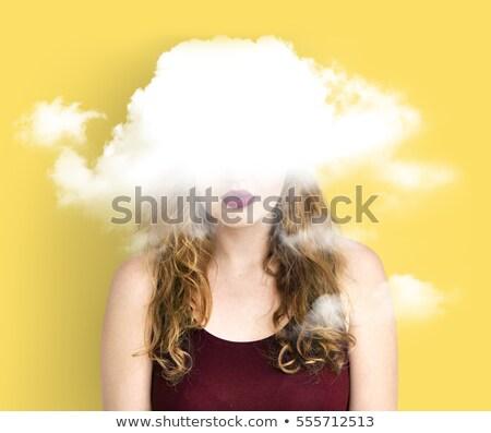 Verborgen depressie gevoelens symbool boom bladeren Stockfoto © Lightsource
