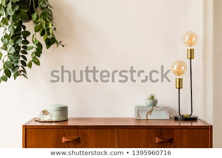 Sofa with table and lamp. Stock photo © biv