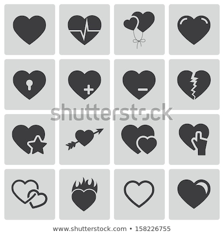 Flame heart icon Stock photo © sifis