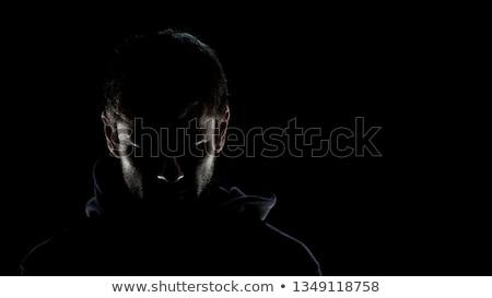 Terrorista silhueta pare conjunto fundo assinar Foto stock © doomko