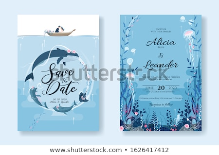Házasság illusztráció esküvő hal tenger pár Stock fotó © adrenalina