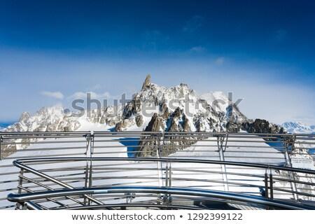 mont Blanc and cableway Stock photo © Antonio-S