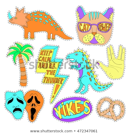 template for fashion with stylish patch badges stock photo © tandav