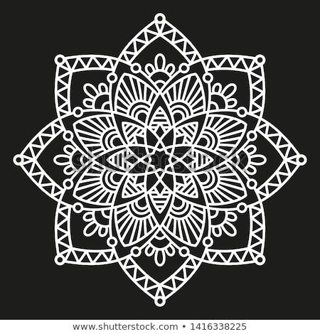 vektör · siyah · beyaz · dantel · model · soyut - stok fotoğraf © CreatorsClub