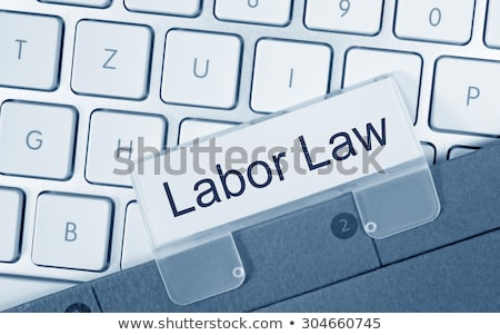 синий папке Label агентство прав пер Сток-фото © Zerbor