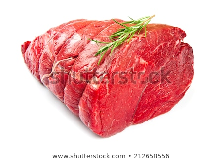 raw roast beef isolated on white Stock photo © M-studio
