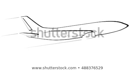 Silhouettes of passenger airliner - contours of airplanes Stock photo © gomixer