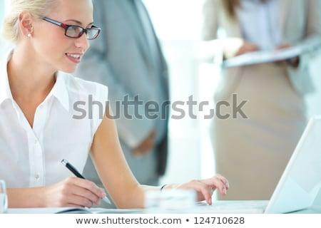 blonde executive secretary Stock photo © ssuaphoto