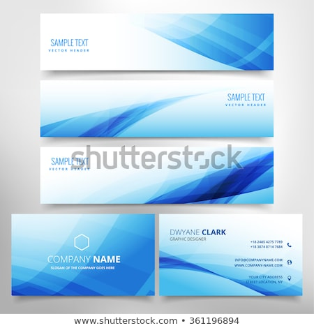 blue wave stationary set including business card and headers Stock photo © SArts