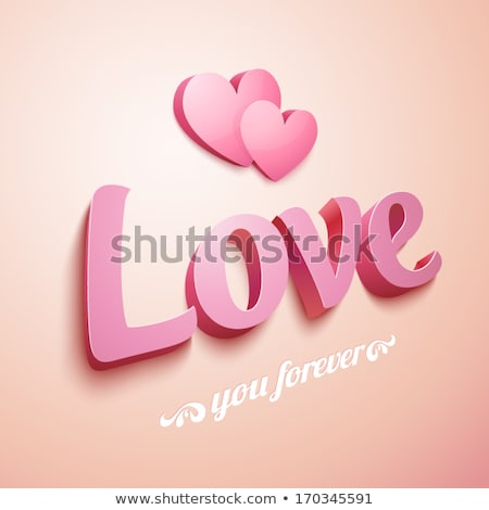 Word ''Love'' and abstract heart from bright colorful candy Stock photo © ptichka