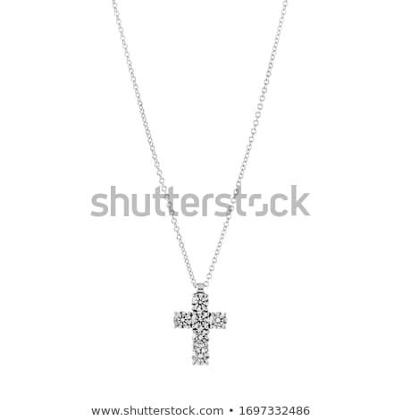 серебро крест белый ювелир Готский Сток-фото © blackmoon979