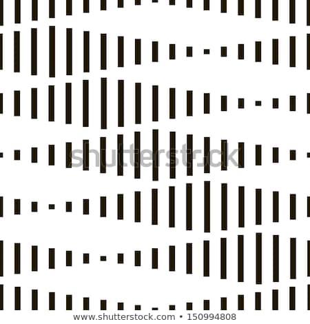 Vector Seamless Black And White Rounded Shape Pattern Stock photo © Samolevsky