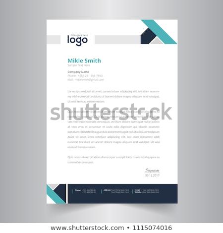 Business Welle Briefkopf Vorlage Vektor Design Stock foto © SArts