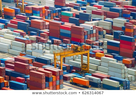 Foto stock: Singapoe Port Work In Progress