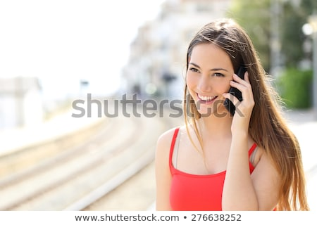girl talking on cellphone stock photo © giulio_fornasar