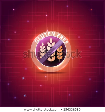 Vivid gluten free symbol background with light lines vector