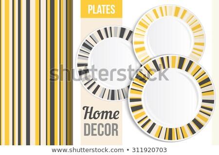 blanco · cena · placa · amarillo · amplio - foto stock © Digifoodstock
